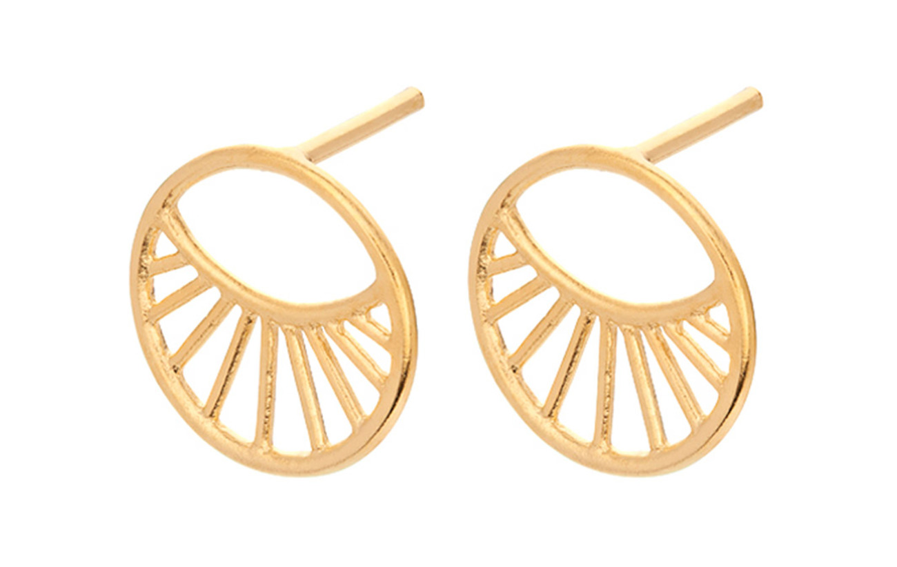 Pernille Corydon Daylight Earsticks Size 11 mm - GOLD PLATED
