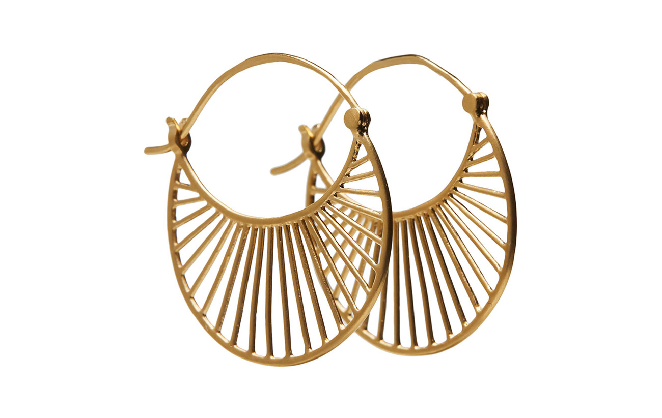 Pernille Corydon Large Daylight  Earrings 30 mm - GOLD PLATED