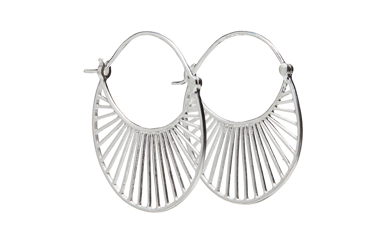 Pernille Corydon Large Daylight  Earrings 30 mm - SILVER