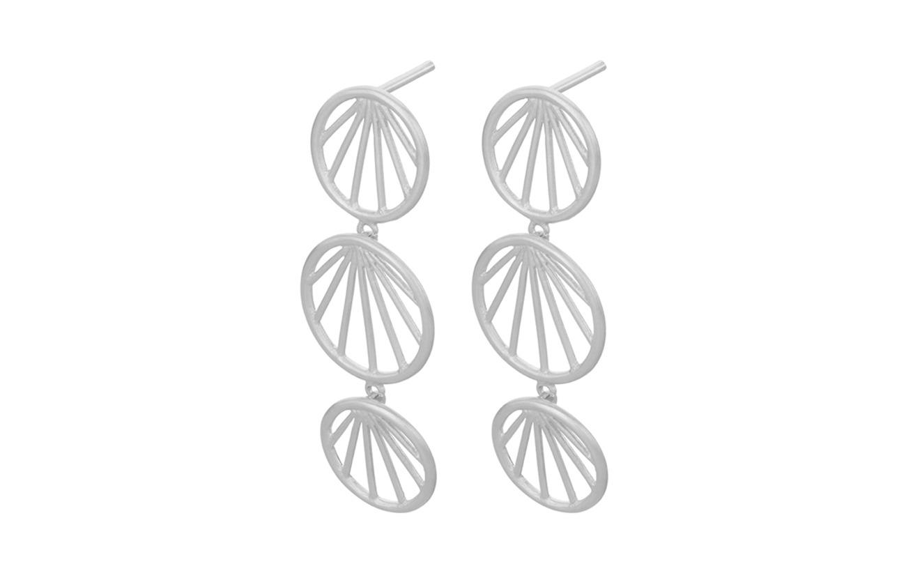 Pernille Corydon Sunray Earrings size 35 mm - SILVER