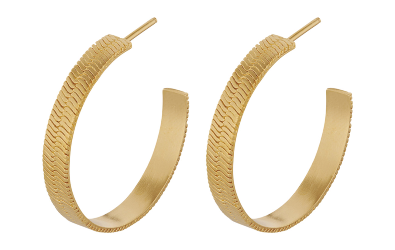 Pernille Corydon Edith Hoops 28 mm - GOLD PLATED