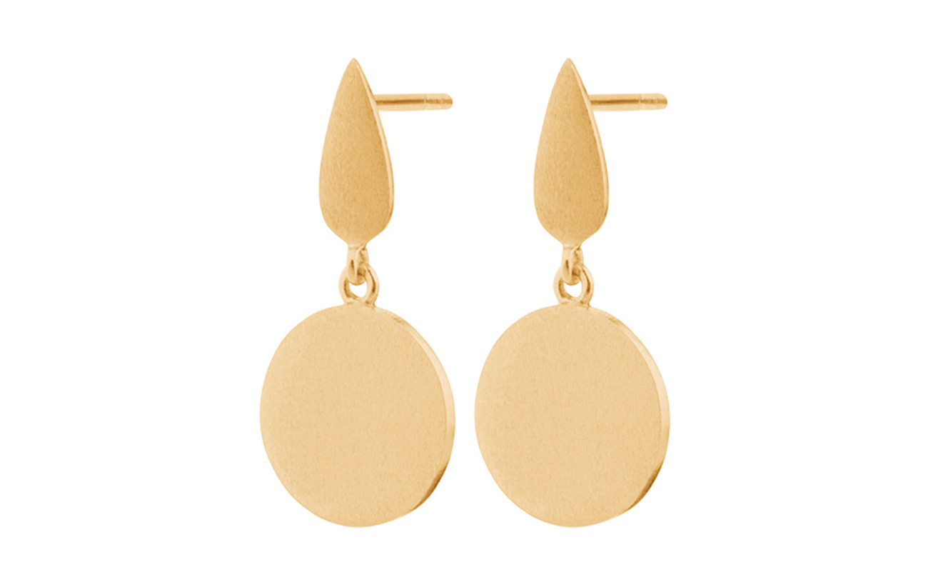 Pernille Corydon Dayglow Plain Earsticks Size 22 mm - GOLD PLATED