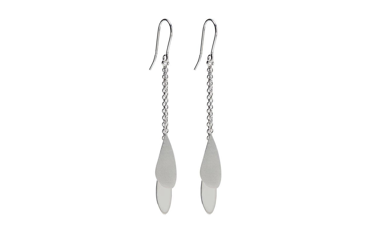 Pernille Corydon Raindrop Earhooks Size 70 mm - SILVER