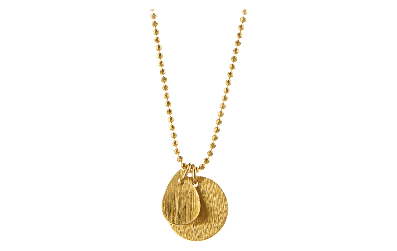 Pernille Corydon Coin &  Drop Necklace - GOLD PLATED