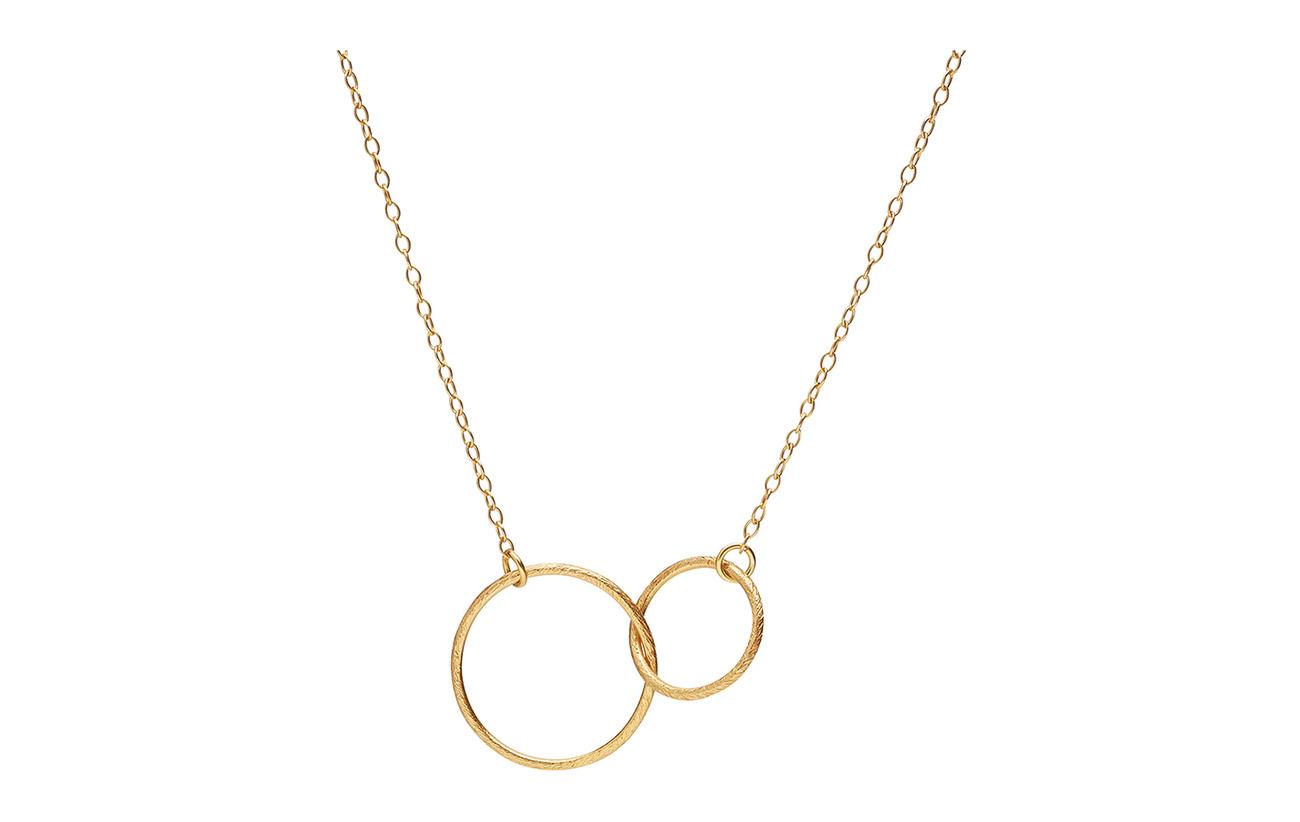 Pernille Corydon Double Plain Necklace 45 cm - GOLD PLATED