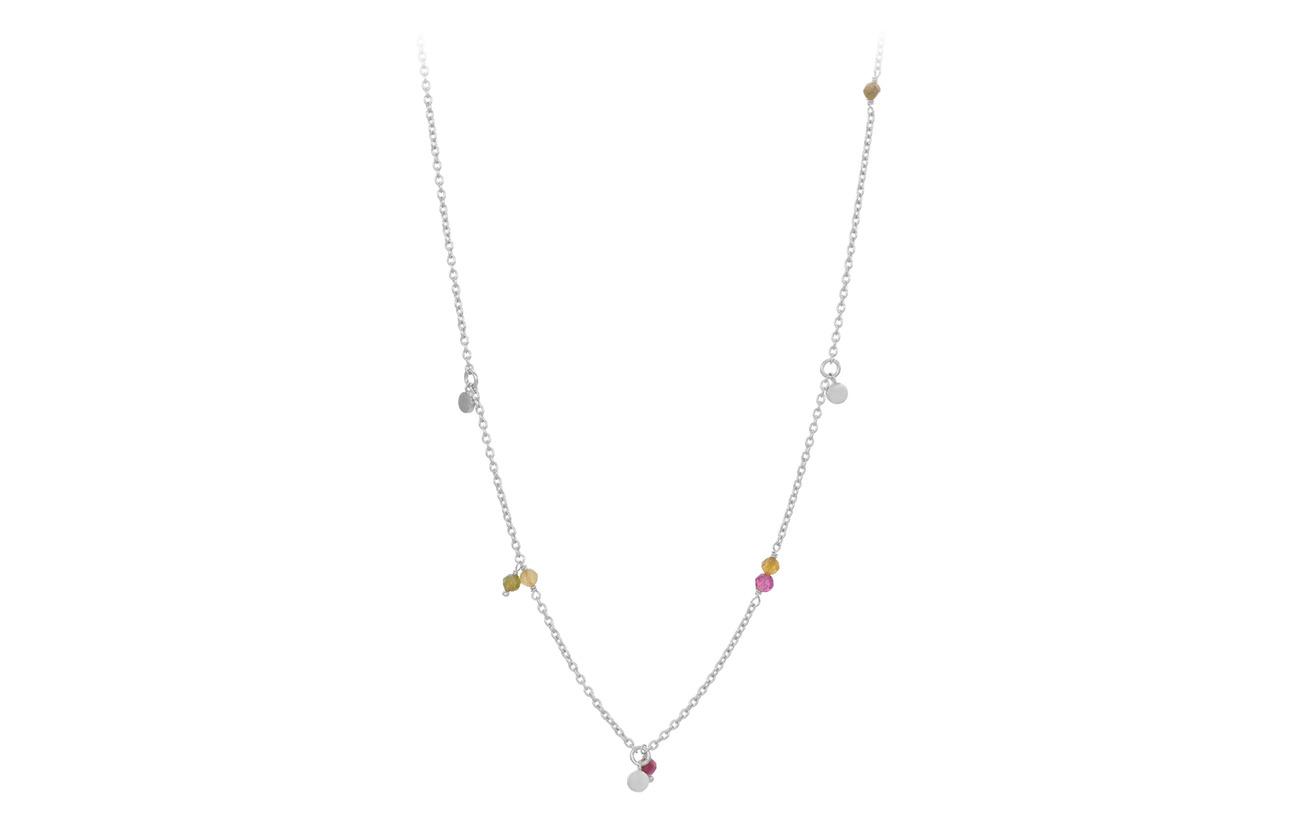 Pernille Corydon Afterglow Pastel Necklace Adj. 42-48 cm - SILVER