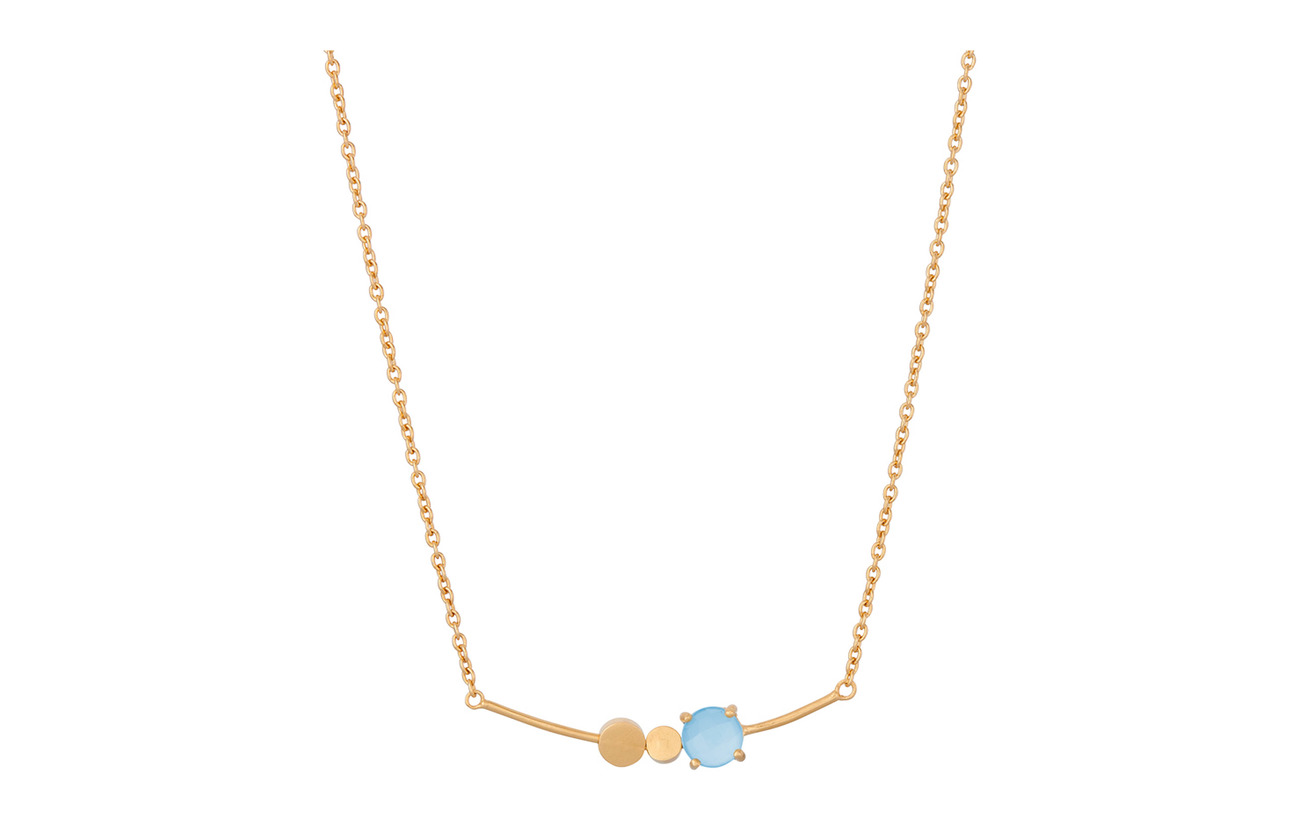 Pernille Corydon Glacier Necklace Blue Adj - GOLD PLATED