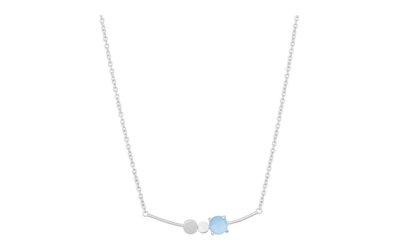 Pernille Corydon Glacier Necklace Blue Adj - SILVER