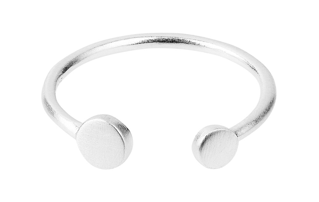 Pernille Corydon Mini Coin Ring Adjustable - SILVER