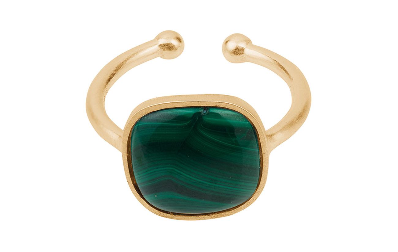 Pernille Corydon Malachite Ring  Adjustable - GOLD PLATED