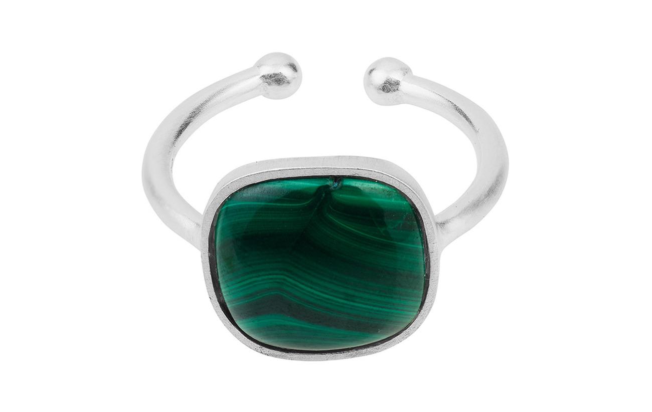 Pernille Corydon Malachite Ring  Adjustable - SILVER