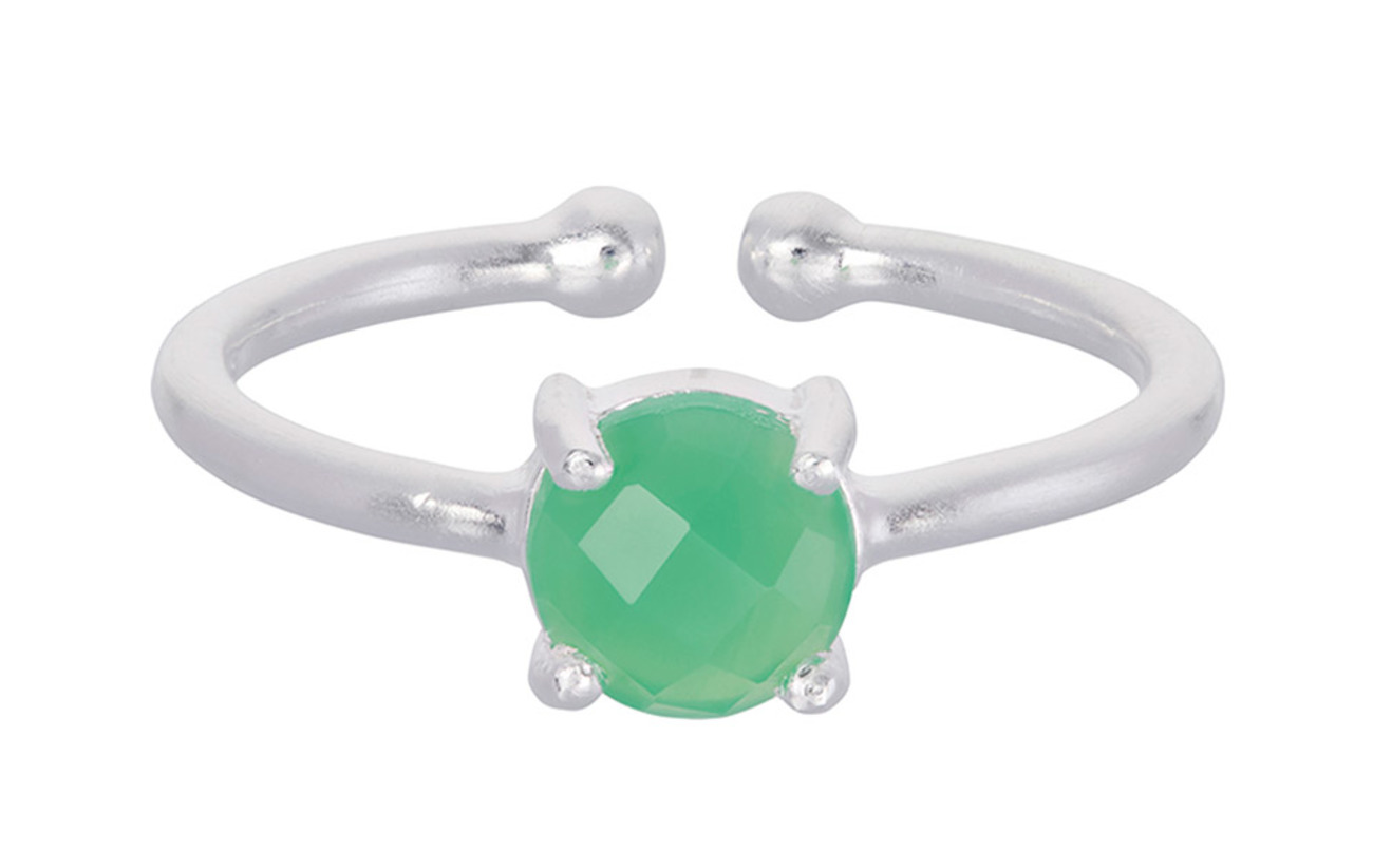 Pernille Corydon Moss Ring Green Adjustable - SILVER