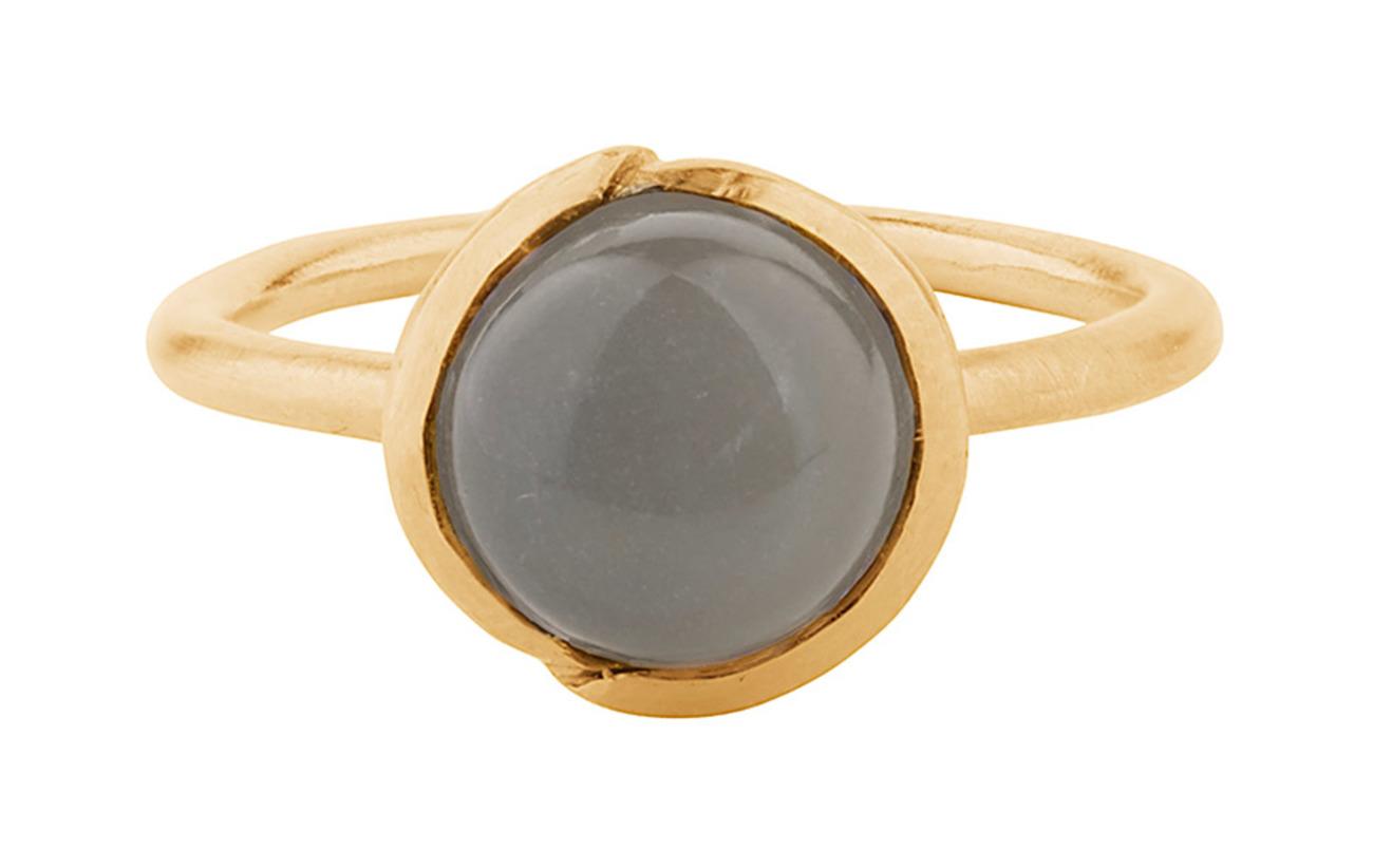 Adjustablegold Ring Corydon Moonstone Aura Grey PlatedPernille xoedrWCB