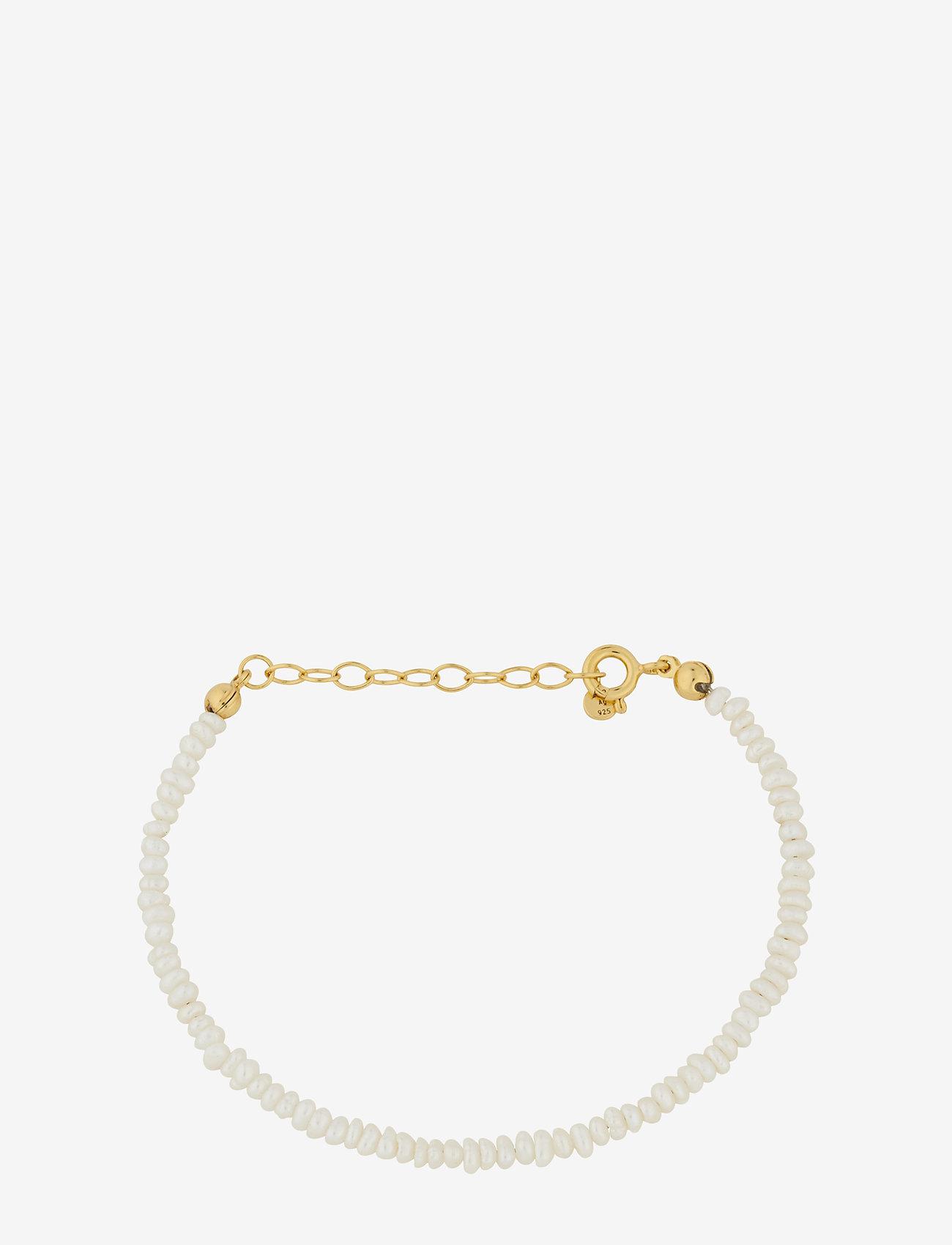 Pernille Corydon - Baroque Pearl Bracelet Adj. 15-18 cm - dainty - gold plated - 0