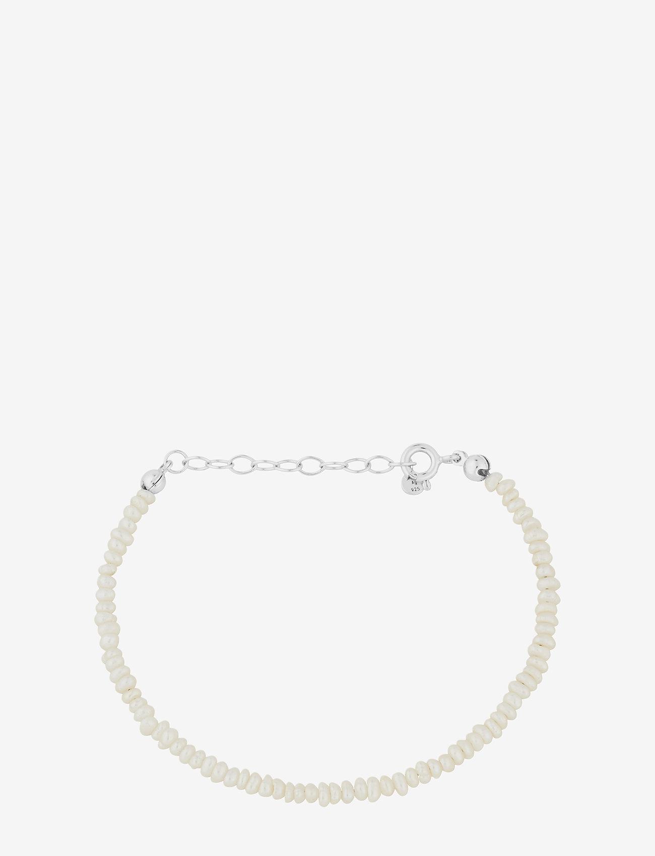 Pernille Corydon - Baroque Pearl Bracelet Adj. 15-18 cm - dainty - silver - 0
