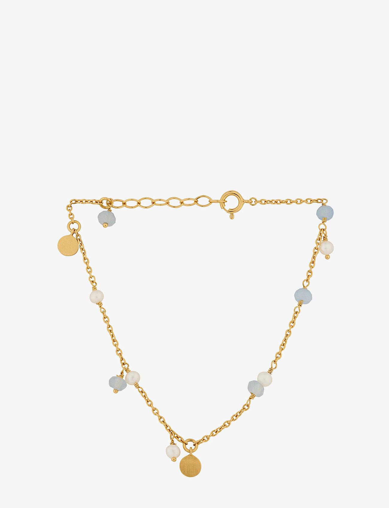 Pernille Corydon - Afterglow Sea Bracelet 15-18 cm Adj. - dainty - gold plated - 0