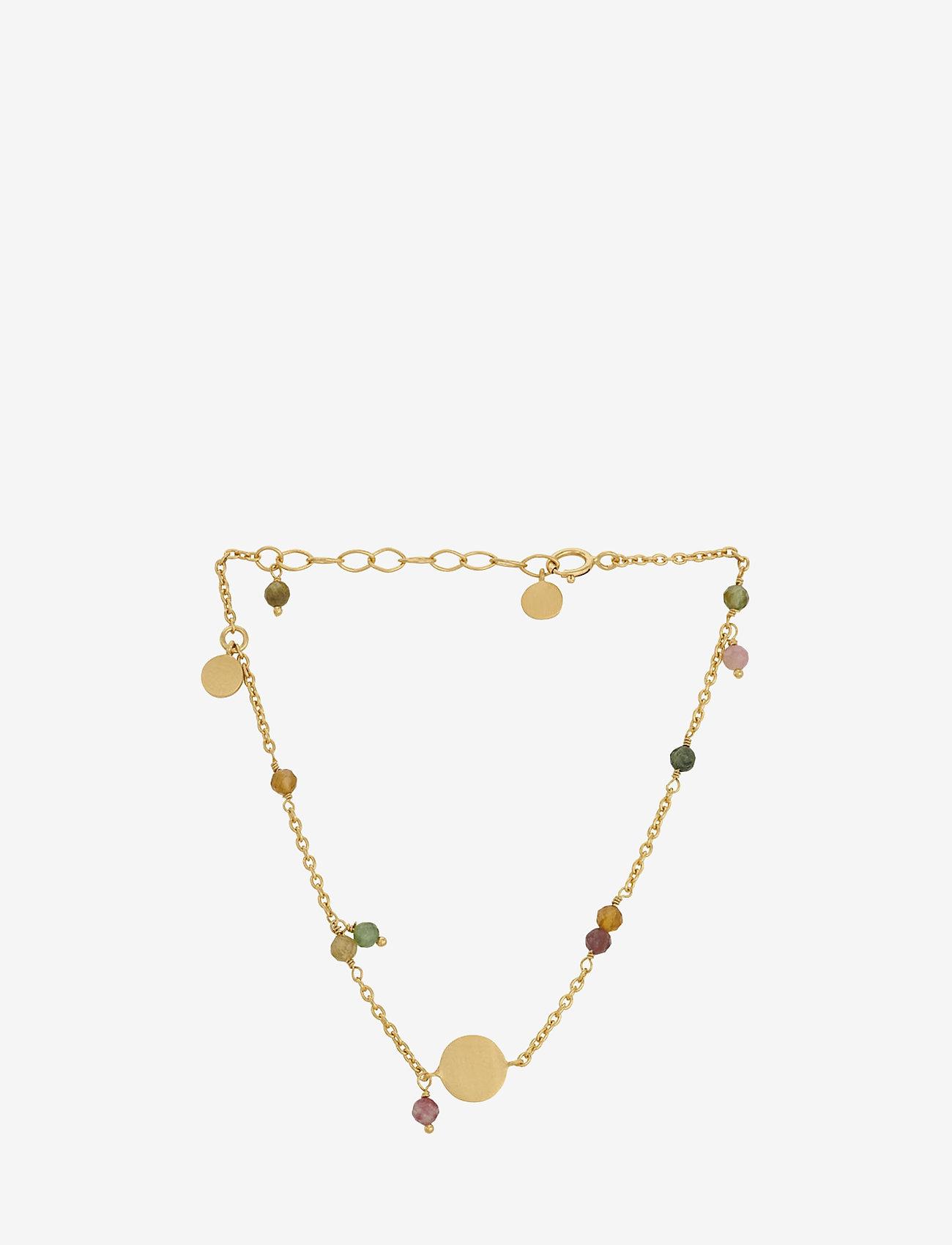 Pernille Corydon - Afterglow Pastel Bracelet Adj. 15- 18 cm - dainty - gold plated - 0