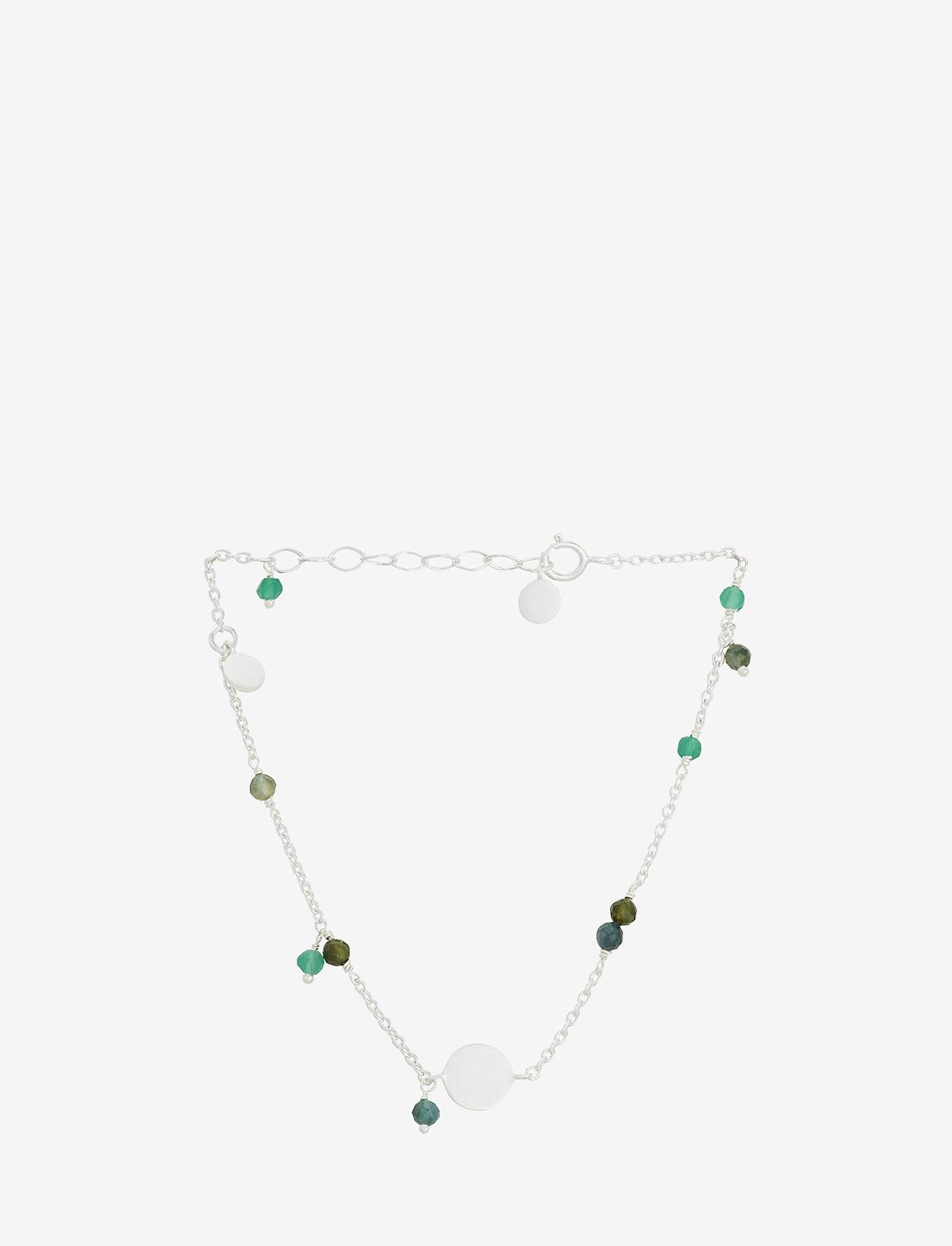 Pernille Corydon - Afterglow Aqua Bracelet Adj. 15- 18 cm - dainty - silver - 0