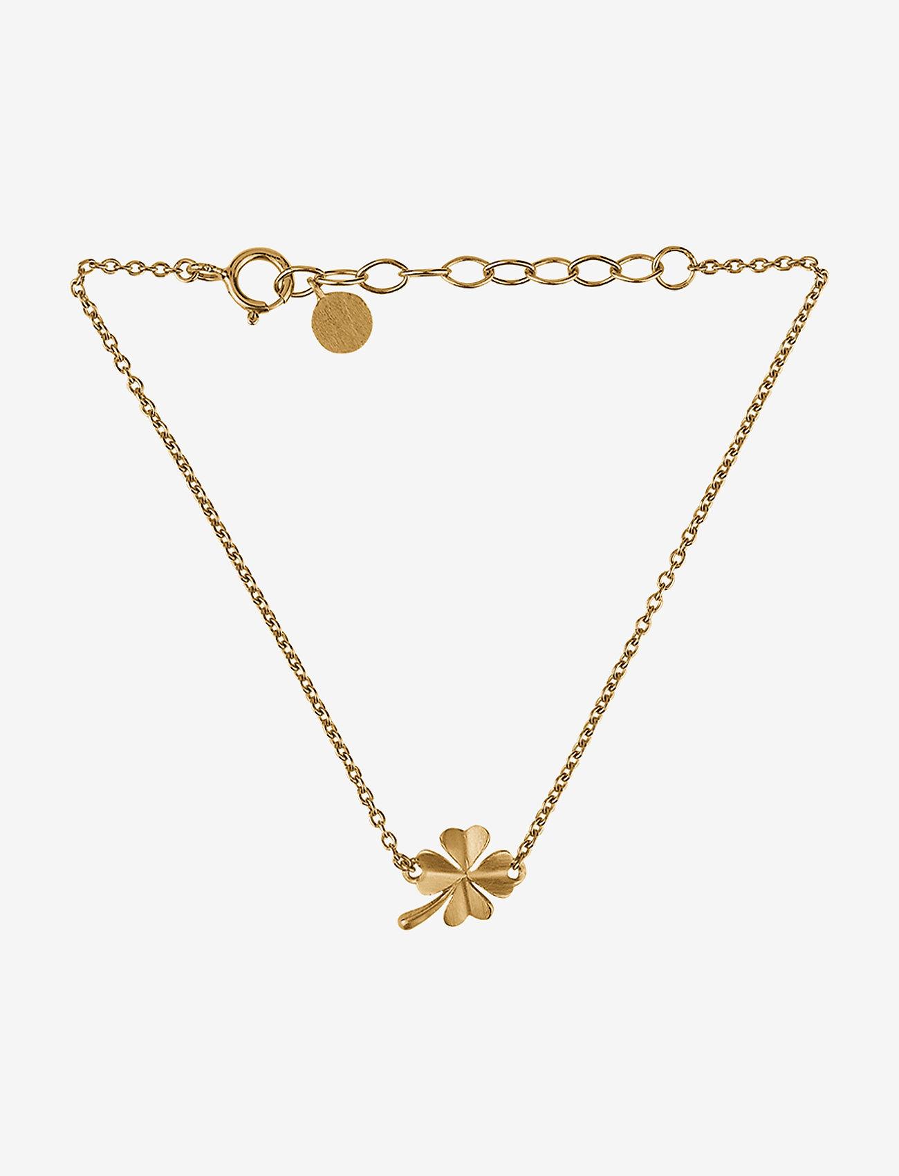 Pernille Corydon - Clover Bracelet - dainty - gold plated - 0