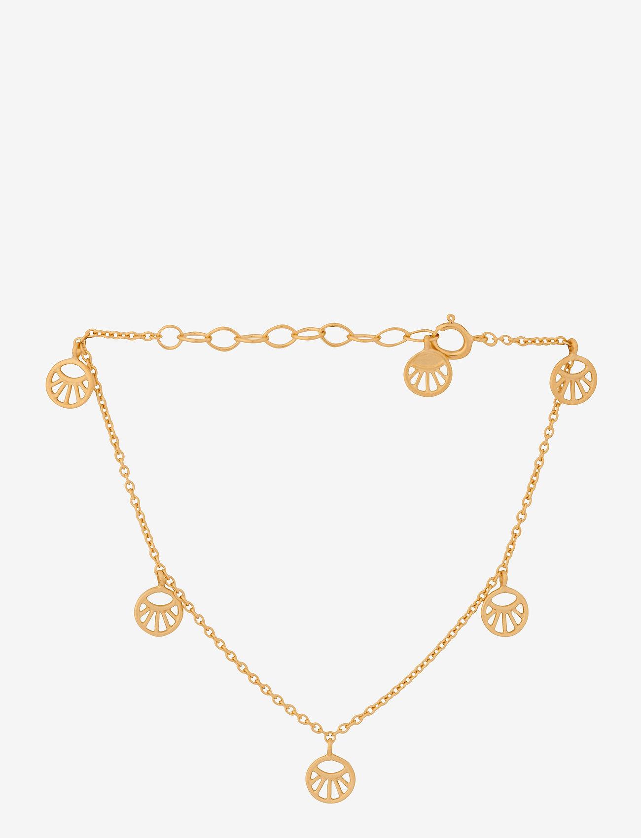 Pernille Corydon - Mini Daylight Bracelet. Adj. 15-18 cm - dainty - gold plated - 0