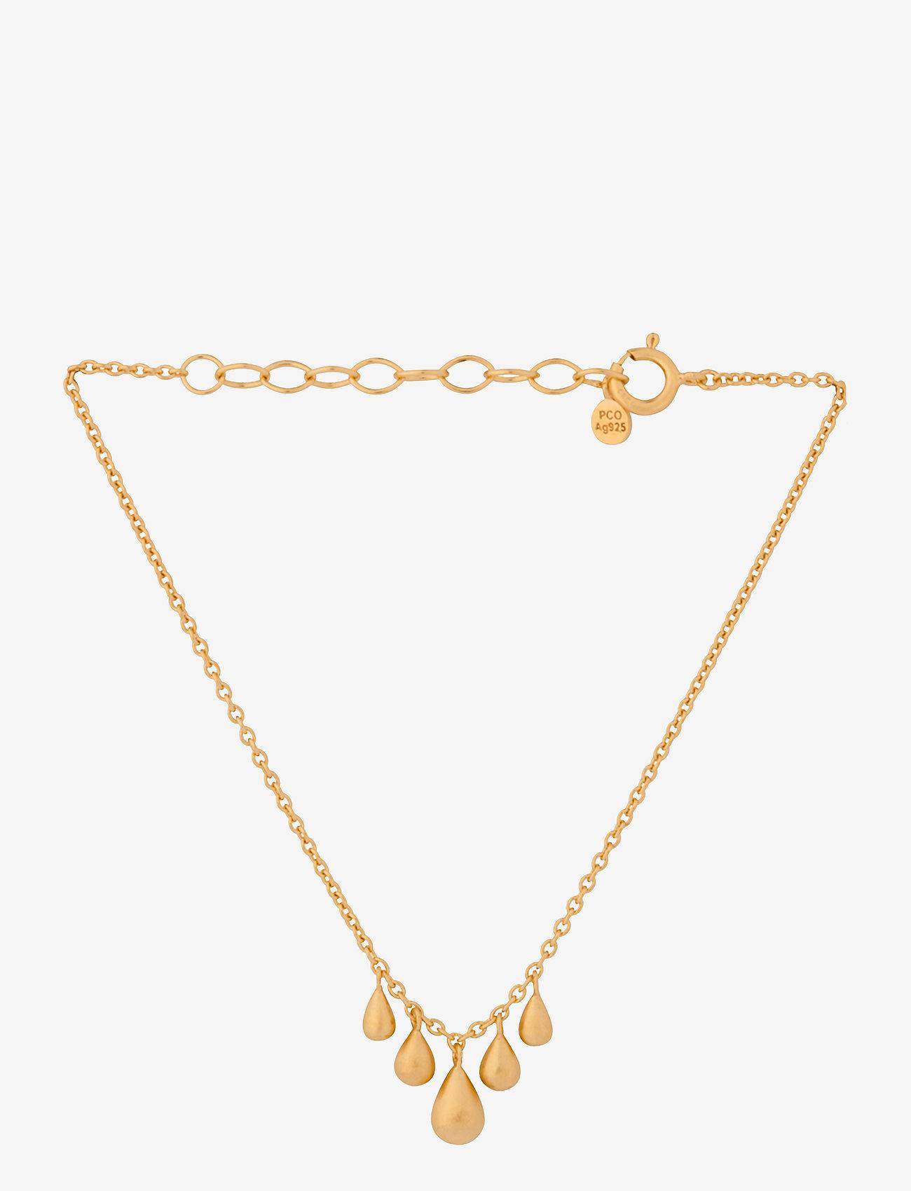 Pernille Corydon - Waterdrop Bracelet Adj. 15-18 cm - dainty - gold plated - 0