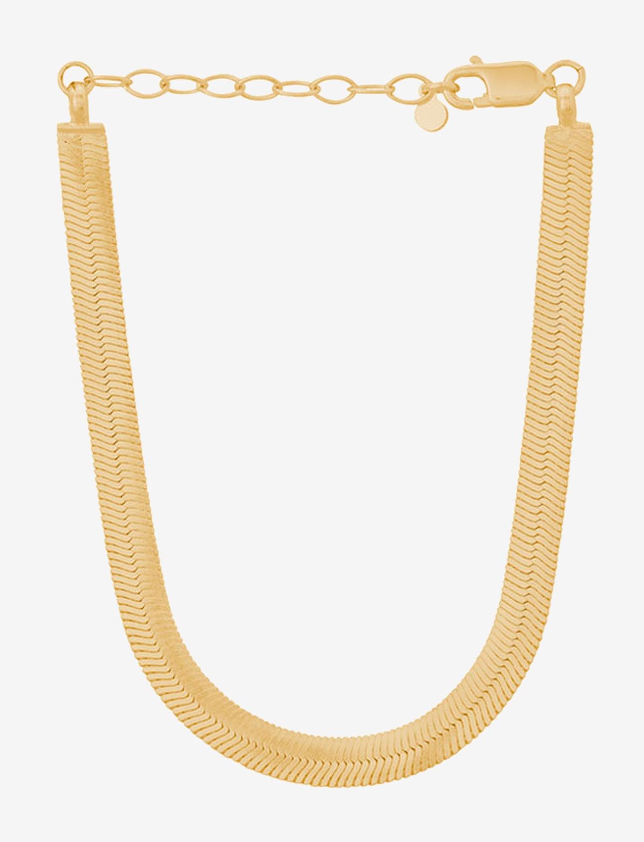 Pernille Corydon - Edith Bracelet  Adj. 15-18 cm - dainty - gold plated - 0