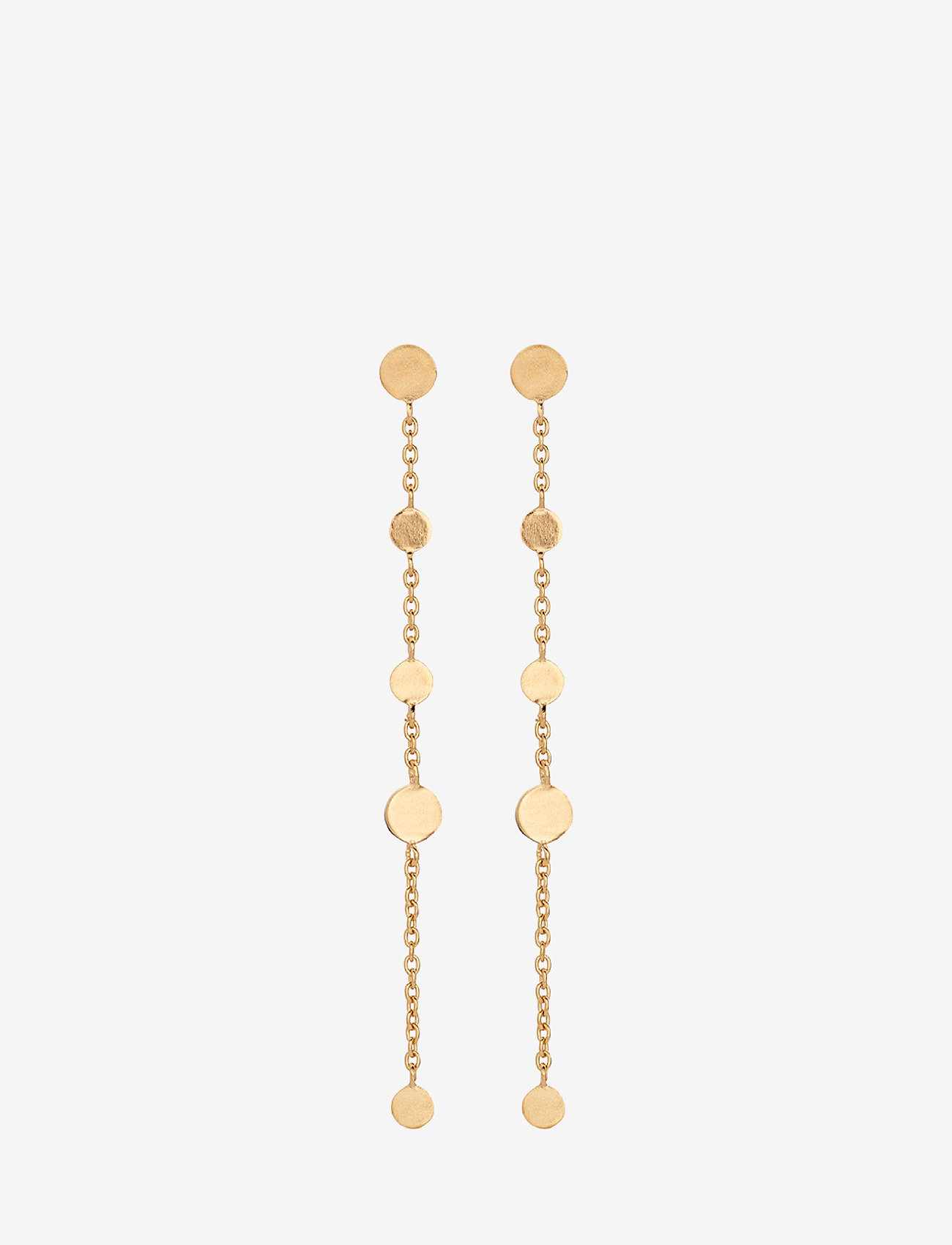 Pernille Corydon - Mini Coin Earchains  Size 56 mm - statement earrings - gold plated - 0