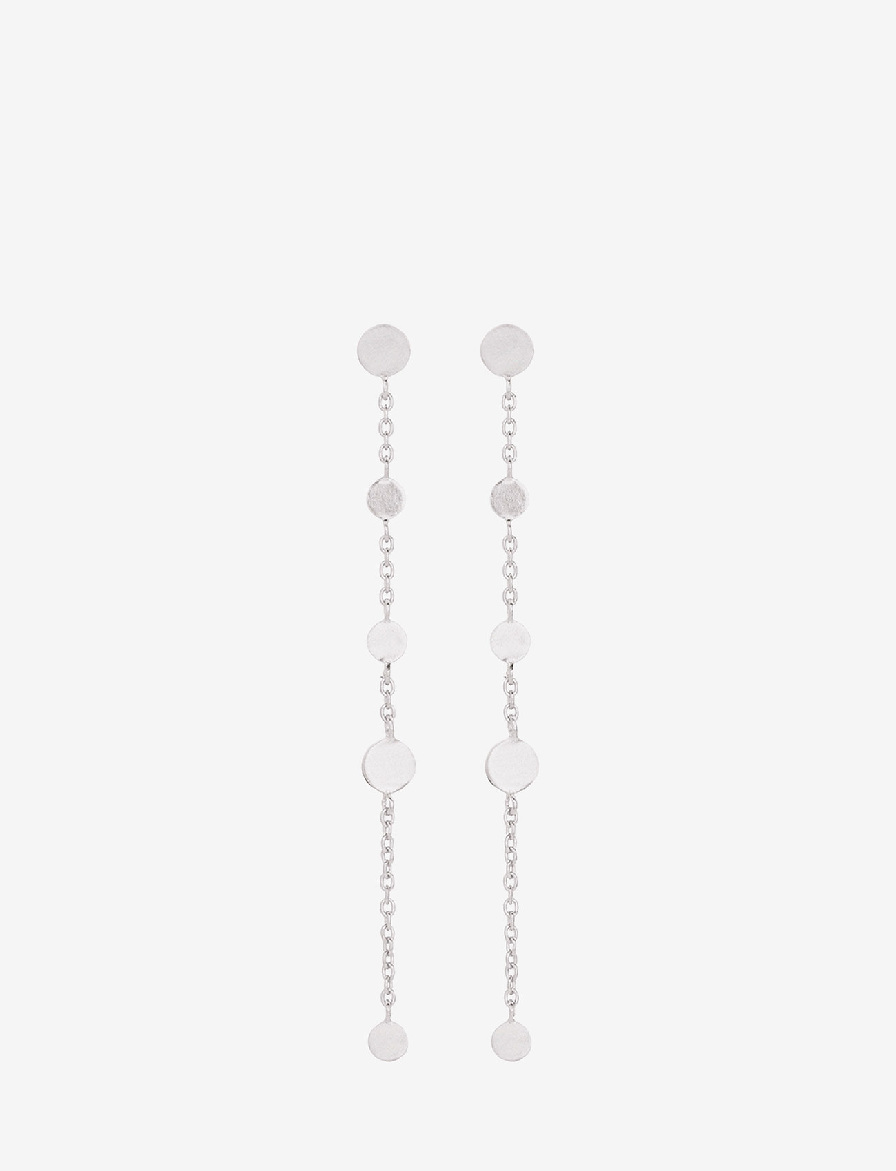Pernille Corydon - Mini Coin Earchains Size 56 mm - statement earrings - silver - 0