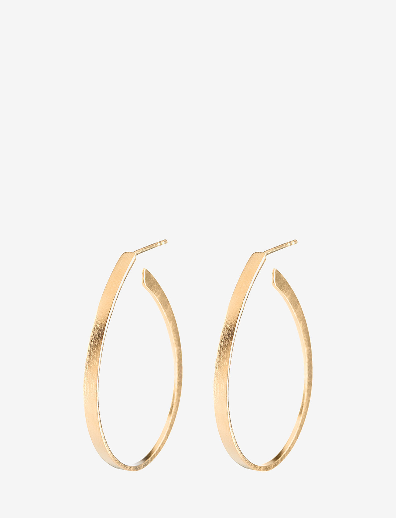 Pernille Corydon - Oval Creoles  size 35 mm - statement earrings - gold plated - 0