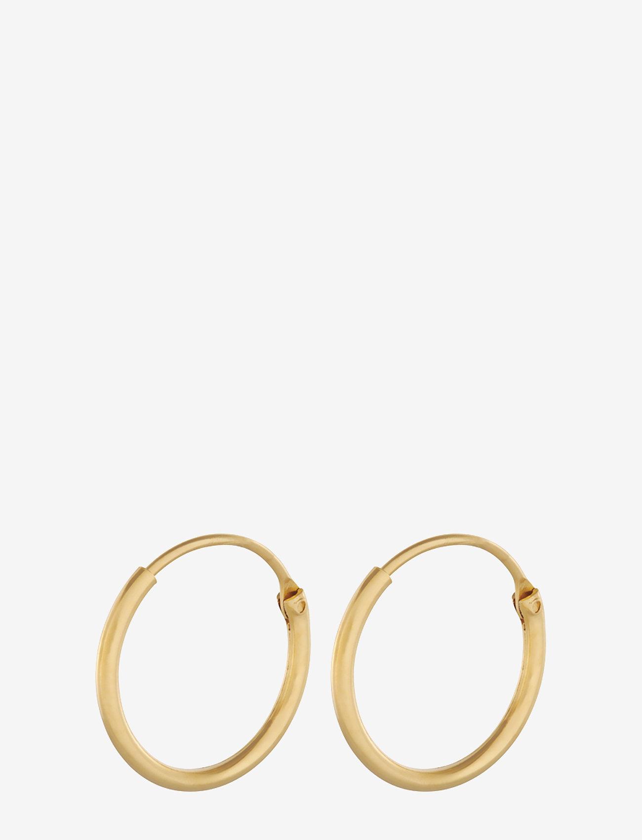 Pernille Corydon - Tiny Plain Hoops 13 mm - hopen - gold plated - 0