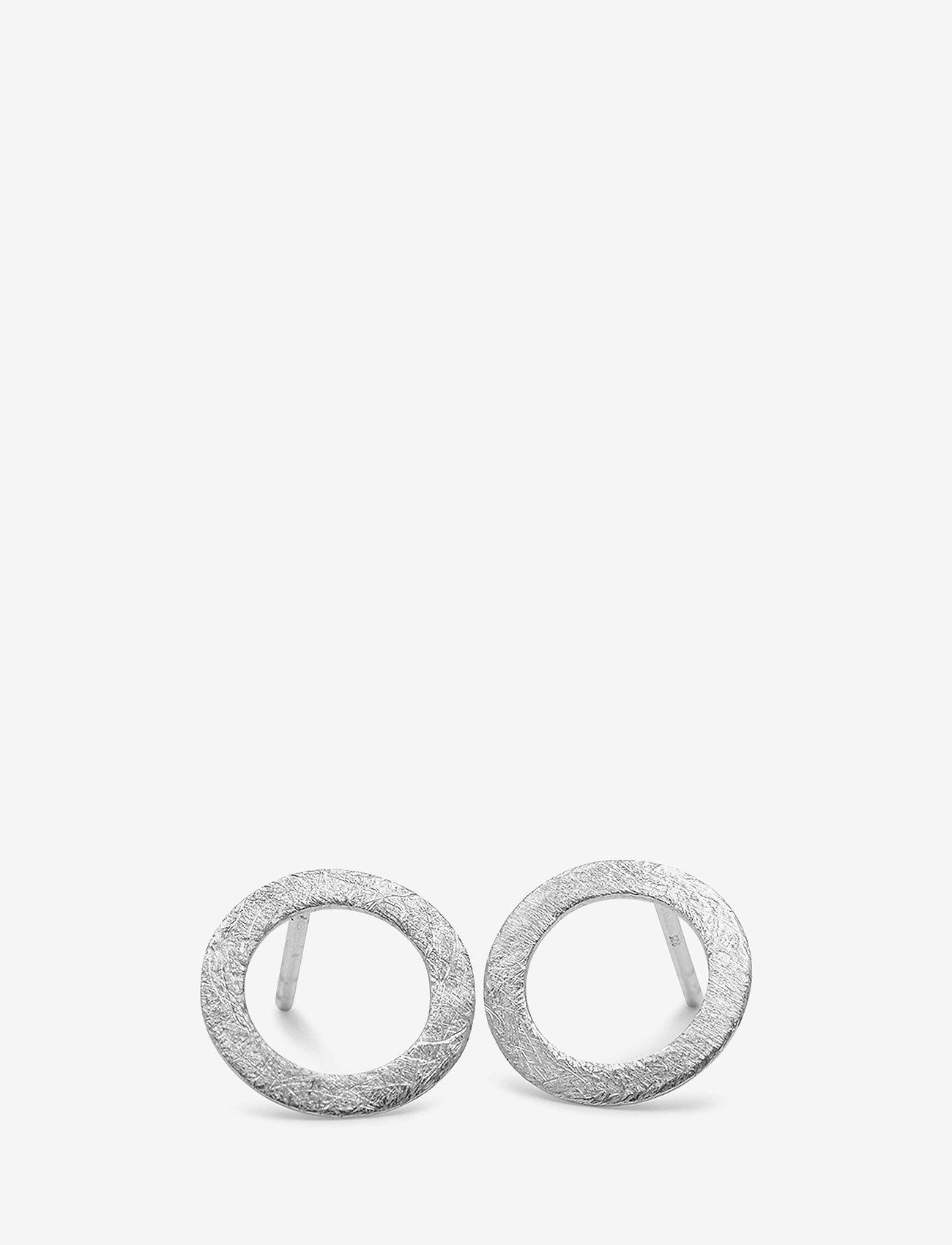 Pernille Corydon - Small Open Coin Earsticks - kolczyki sztyfty - silver - 0