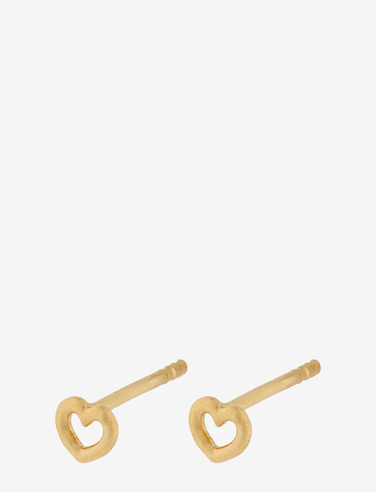Pernille Corydon - Love Earsticks 4 mm - studs - gold plated - 0