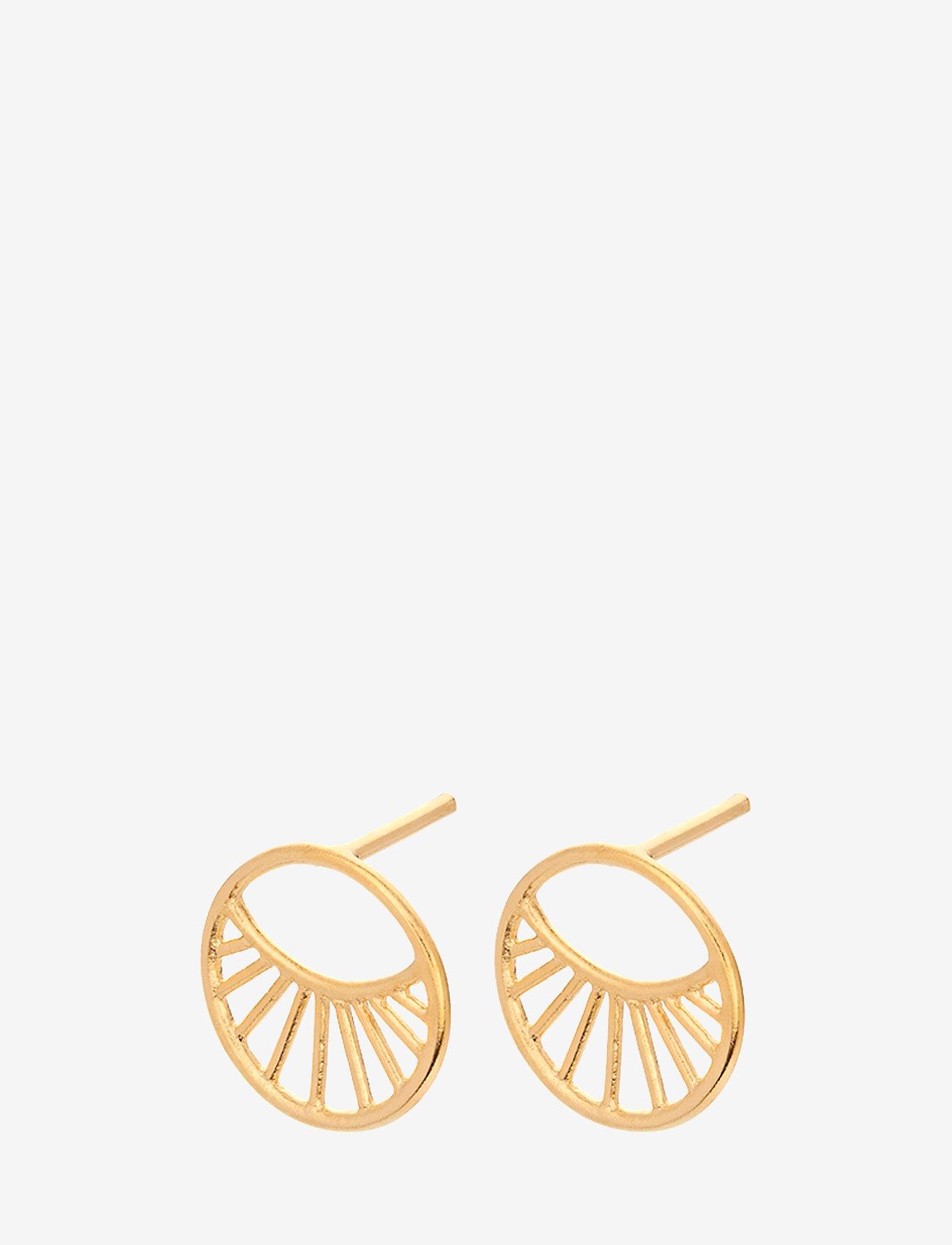 Pernille Corydon - Daylight Earsticks Size 11 mm - kolczyki sztyfty - gold plated - 0