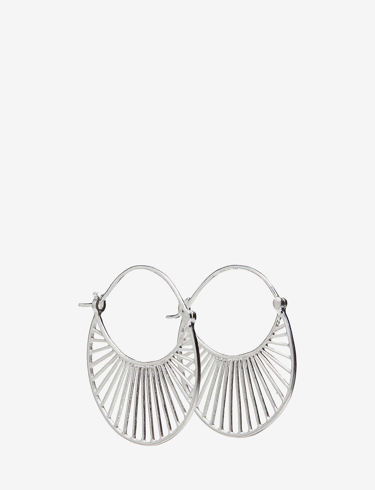 Pernille Corydon - Large Daylight  Earrings 30 mm - hängande örhängen - silver - 0