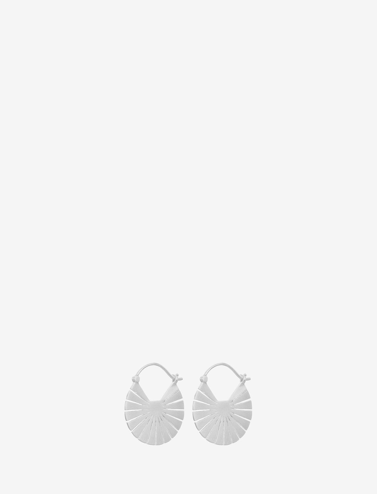 Pernille Corydon - Flare Earrings size 23 mm - hängande örhängen - silver - 0