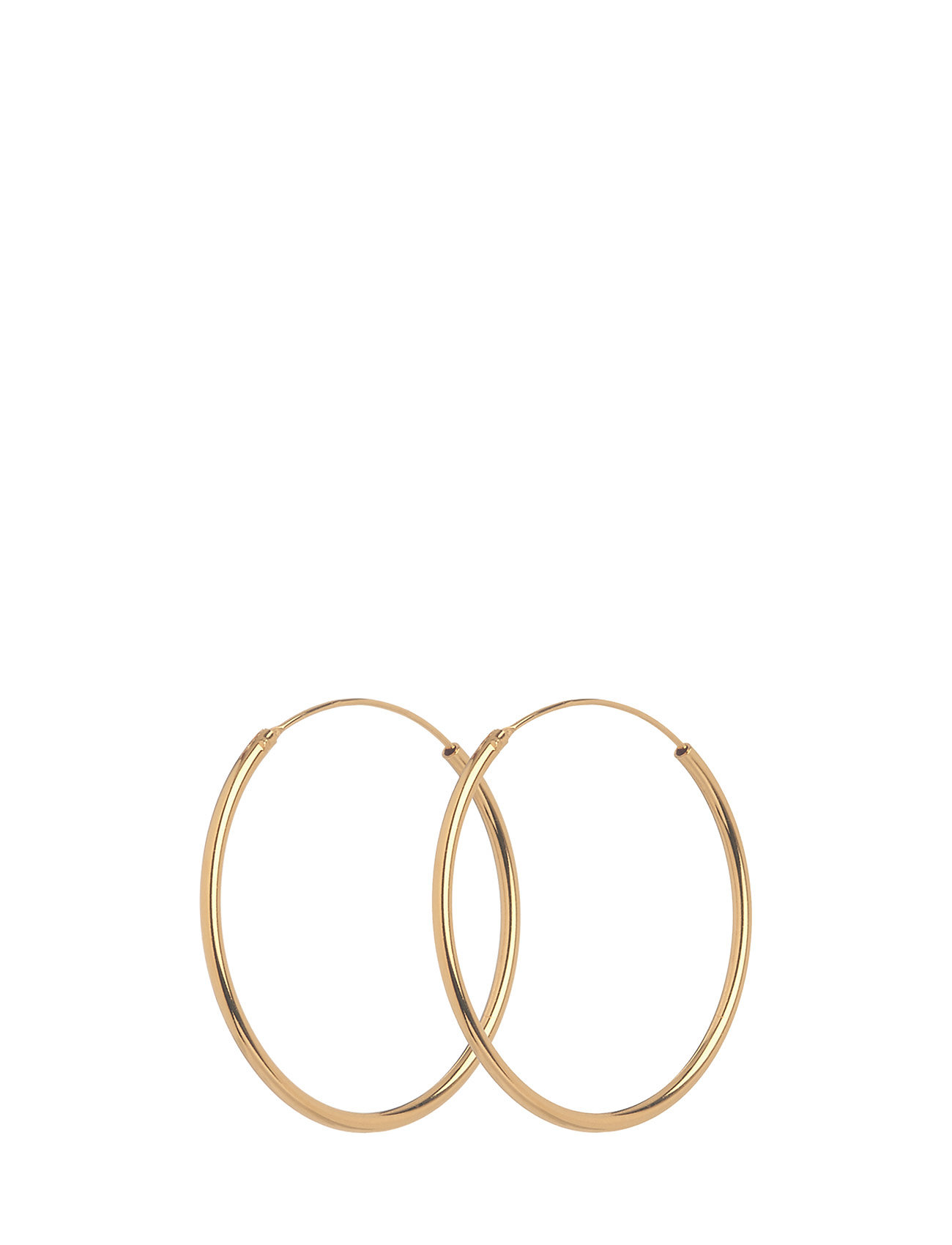 Pernille Corydon Plain Hoop size 30 mm - GOLD PLATED