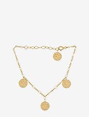 Pernille Corydon - New Moon Bracelet Adj. 15-18 cm - dainty - gold plated - 0