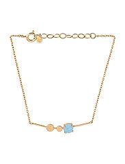 Glacier Bracelet Blue Adj. - GOLD PLATED