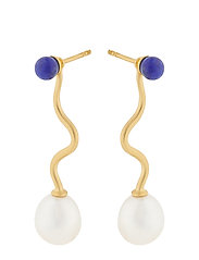 Lapis Lagoon Earrings 40 mm - GOLD PLATED