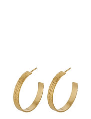 Edith Hoops 28 mm - GOLD PLATED