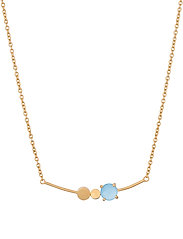 Glacier Necklace Blue Adj - GOLD PLATED