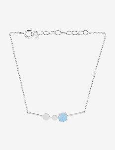 Glacier Bracelet Blue Adj. - SILVER
