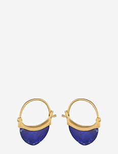 Small Lapis Lazuli Earrings 22 mm - GOLD PLATED