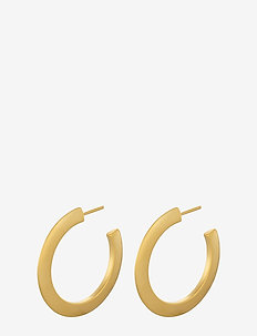 Small New York Hoops size 30 mm - GOLD PLATED