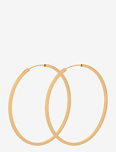 Small Orbit Hoops Size 40 mm - hoops - gold plated