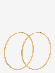 Orbit Hoops Size 50 mm - korvarenkaat - gold plated