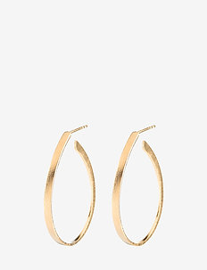 Oval Creoles  size 35 mm - statement-ohrringe - gold plated