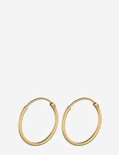 Micro Plain Hoops 15 mm - GOLD PLATED