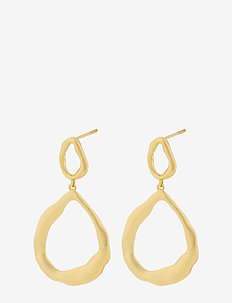 Gaia Earrings 40 mm - GOLD PLATED