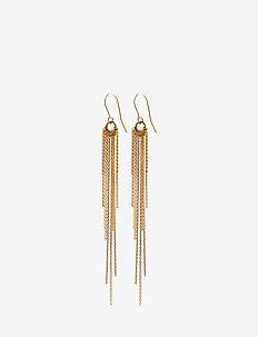 Rain Hook 10 cm - statement-øreringe - gold plated